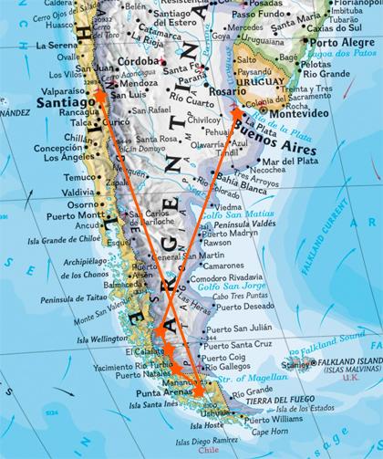 valparaiso punta arenas: